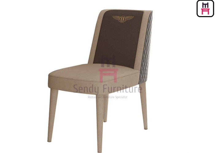 Leather Hotel Restaurant Chairs Fully Upholstered Dual Color Contemporary Style